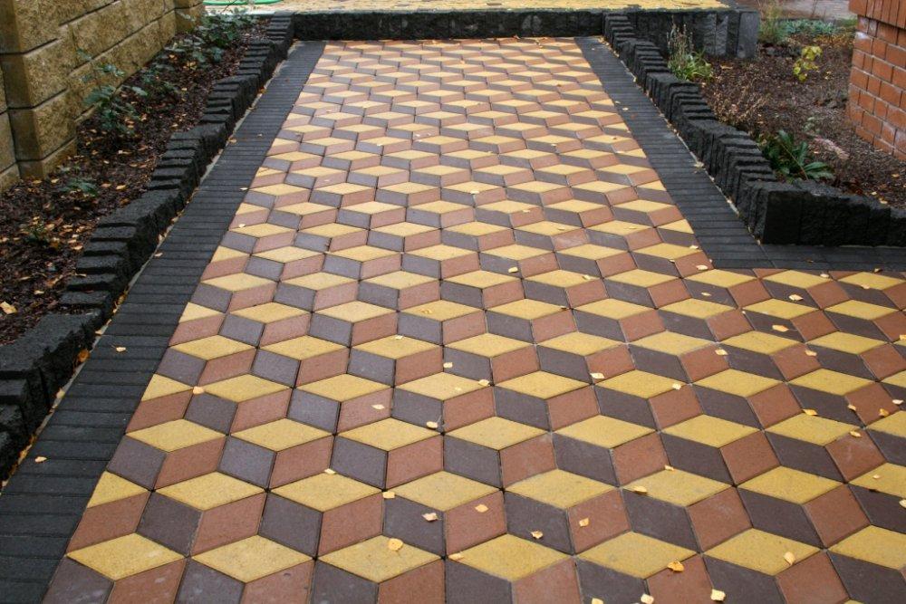Дизайн тротуарной плитки фото